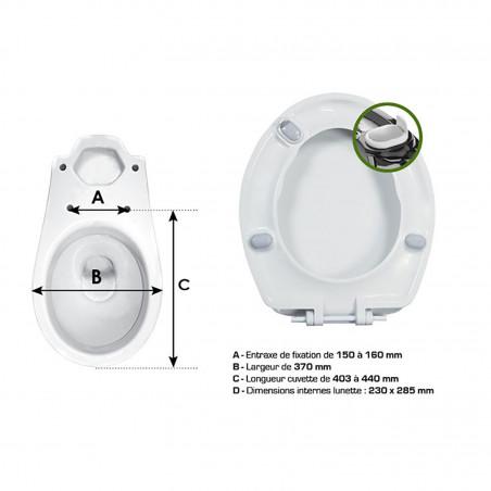 Abattant pour WC Céleste Plus - Wirquin