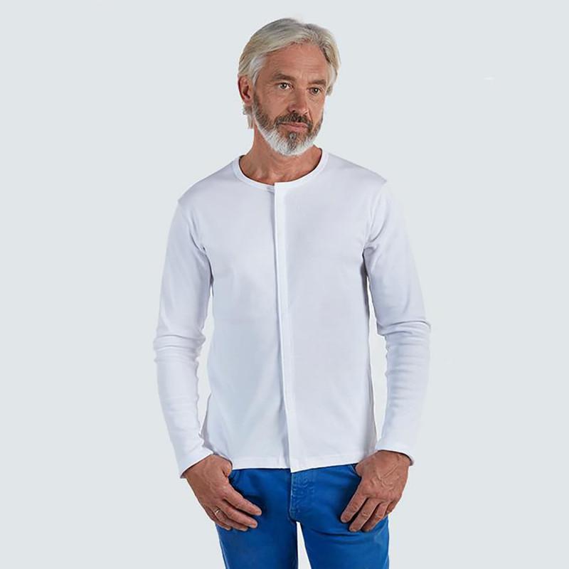 Tee-shirt manches longues avec ouverture devant Benefactor