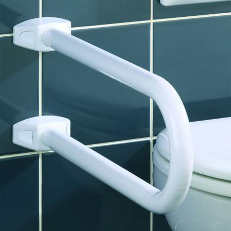 Barre d'appui relevable pour WC