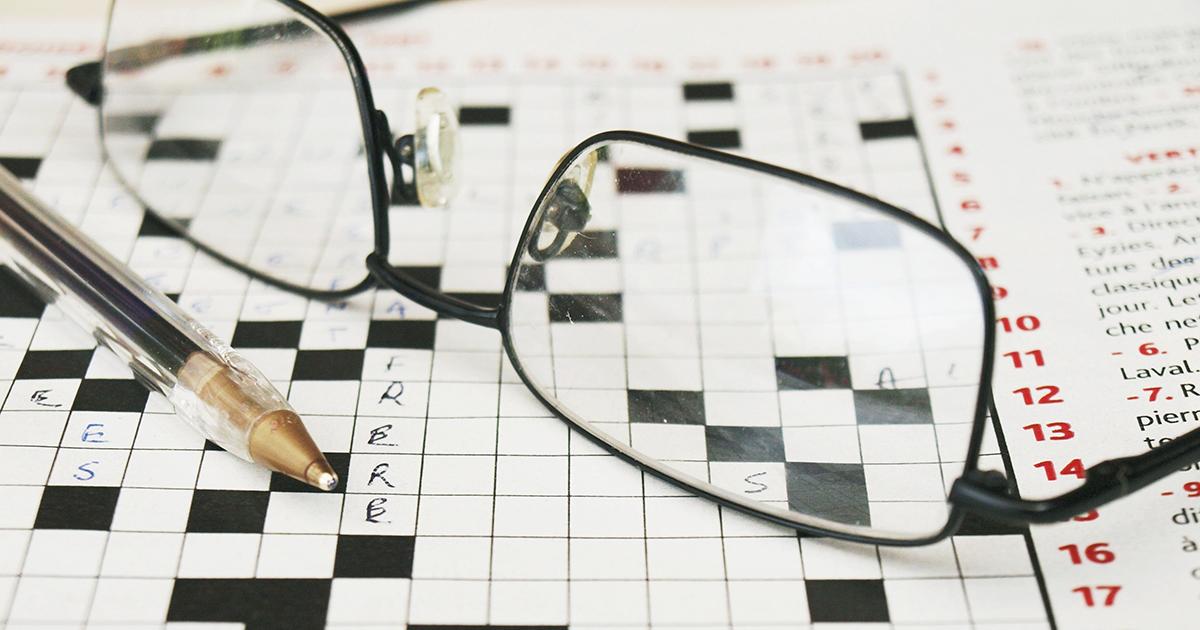 Journée mondiale de la vue : lunettes et mots croisés