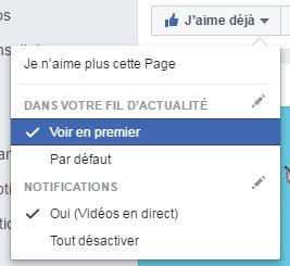 Page Facebook : ce que je veux voir