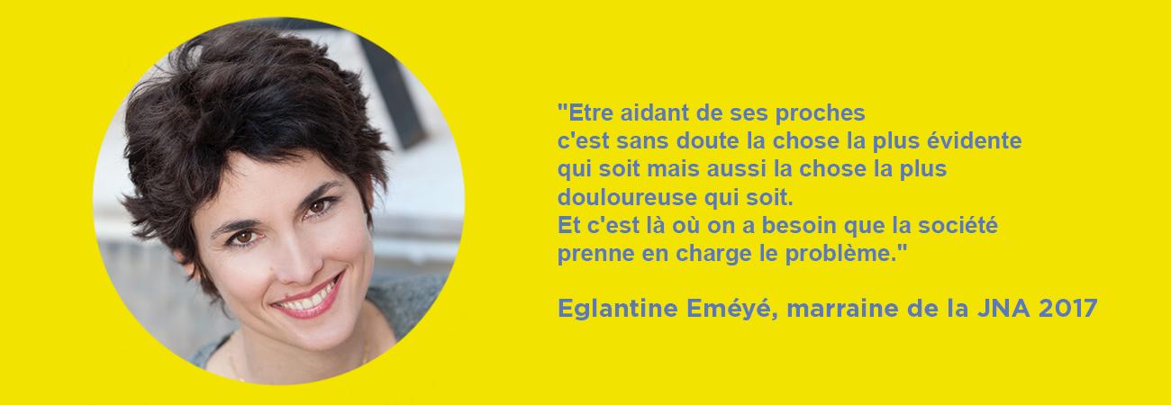 Eglantine Eméyé - Marraine de la JNA 2017