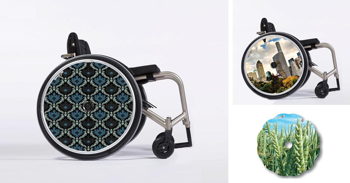 flasques pour fauteuil roulant