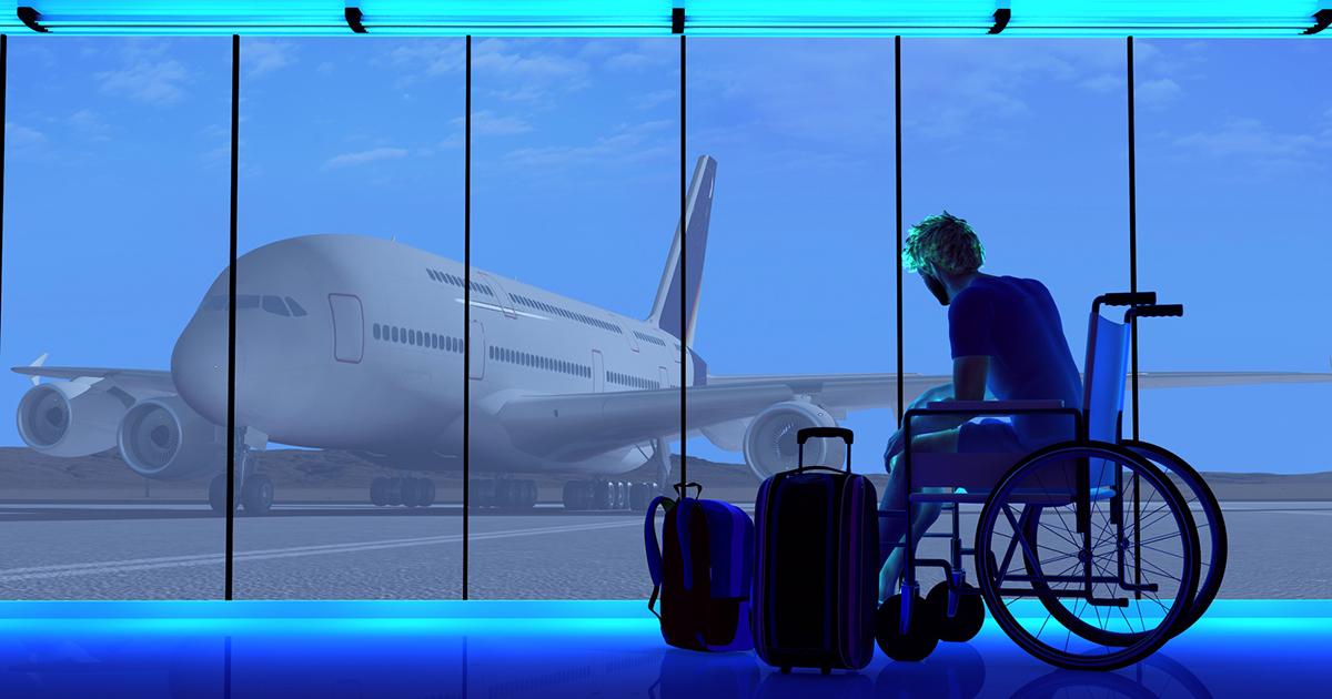 Voyager en avion avec un fauteuil roulant