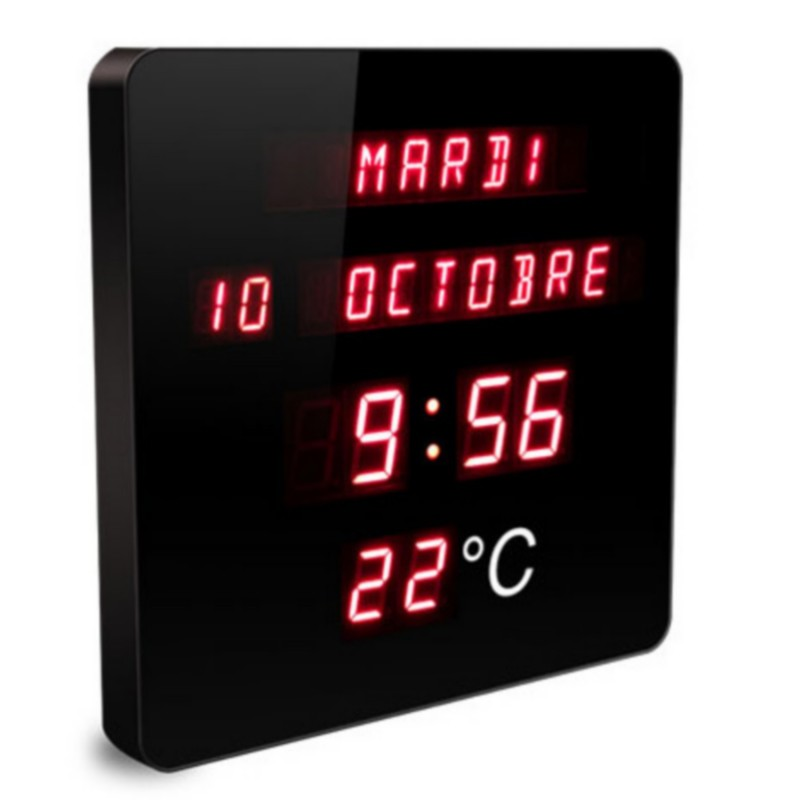 horloge murale a led digitale
